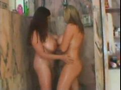 Sandra and I in the shower
