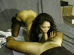 Rub That Asian Pear Untill Hot Secretions Allow That Cock In