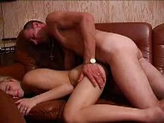 Skinny Blonde Is Fucked By Her Lover In Ass