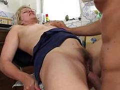 Hot Granny Loves To Stay In And Cook Up Cock