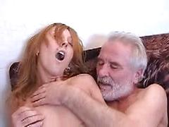 Amateur Grandpa Gets Lucky All Over The House