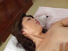 Mature Asian Babe Stripped And Fucked In The Kitchen