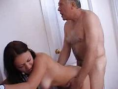 Cute Teen Giving Up The Pussy To Dirty Old Man