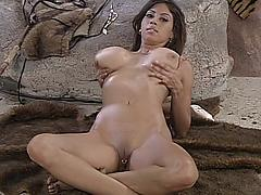 Honey Teen Babe Showing Her Lovely Boobs And Shaven Pussy