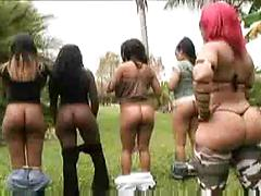 Hot Chicks With Big Ass Having Fun In Someones Garden