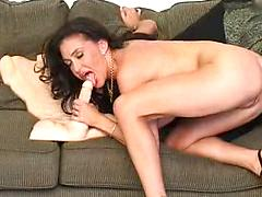 Hot Brunette Strips Down And Plays With Pussy And Big Tits
