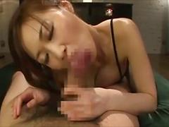 Asian Babe Gets Her Tits Fucked And Fucks A Dick