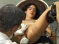 A Hot German Chick Gets Her Pussy Filled By The Gyno
