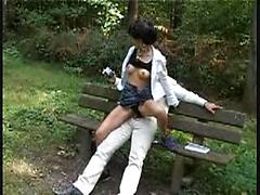 Sexy Asain Babe Gets Her Nice Pussy Slammed In The Park