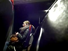 Guy Stroking His Cock In Car While Girl Watches