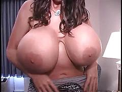 Brunette Shows Off Her Massive Beautiful Tits