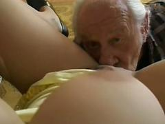Old Timer Gets Heart Pumping By Sexy Blonde