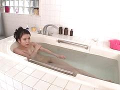 Shy Asian Cutie Gets Her Pussy Played With In The Tub