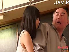 Cute Asian Gives Blowjob After Showering
