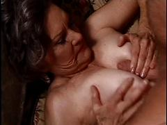 Granny Janet Gets Her Pussy Pounded By Two Dicks