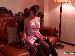 Petite Asian Babe Loves The Big Black Cock
