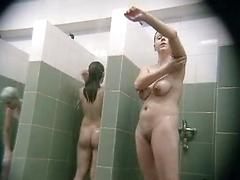 Beautiful nipples in the shower