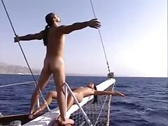 Cum with them on a boat