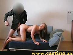 Christina has a toe curling orgasm on the casting couch