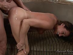 Cumshots galore as these steamy vixens are coated in steamy jizm