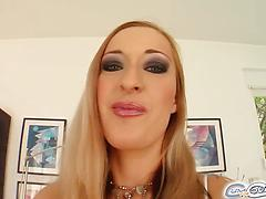 Helpful whore stuffs mouth with a few cocks gets bukkaked