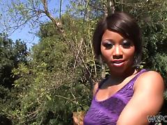 Guy with long black cock does his best to satisfy Imani Rose