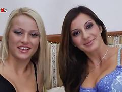 Topnotch lesbian babes play with their delicious wet pussies