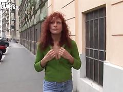 Eccentric mature lesbian babes use a strapon to fuck pussy holes