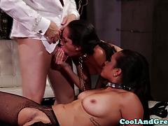 Cumswapping Submissives Threeway Adventure