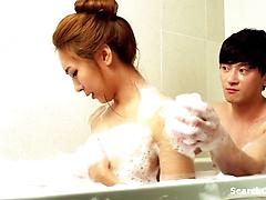 Two Asian Lovers Create A Passionate Scene